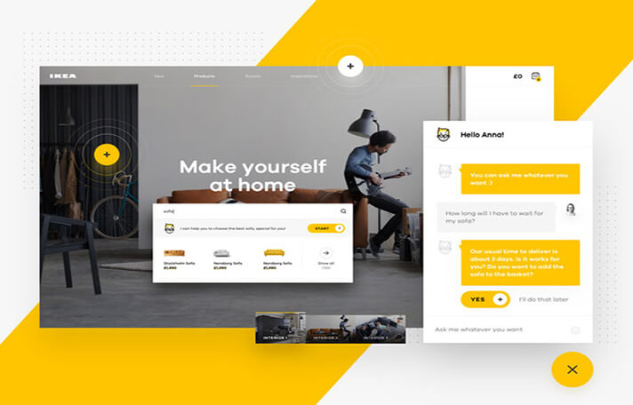 Yellow UI Designs