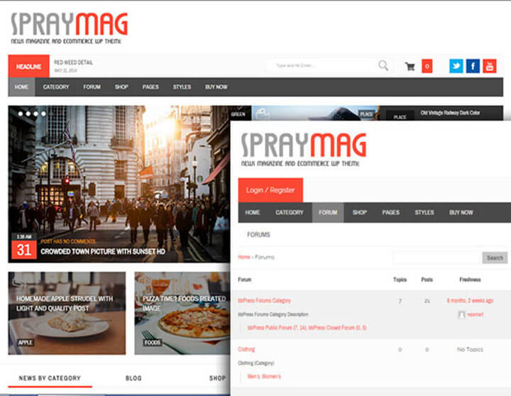 spraymag WordPress bbPress
