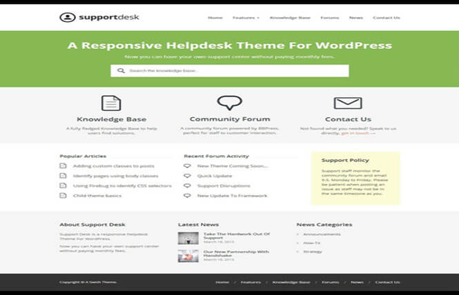 support WordPress bbPress Forum