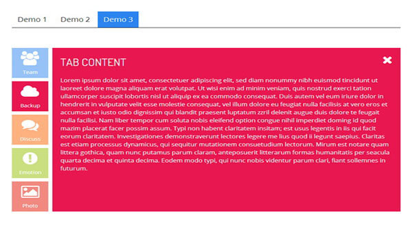 tabbed HTML5 CSS3