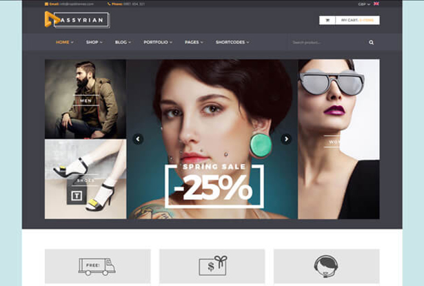 Assyrain Store WordPress Theme