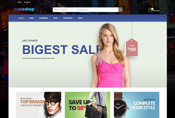 Bigest Store WordPress Theme