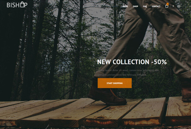 Bishop Store WordPress Theme
