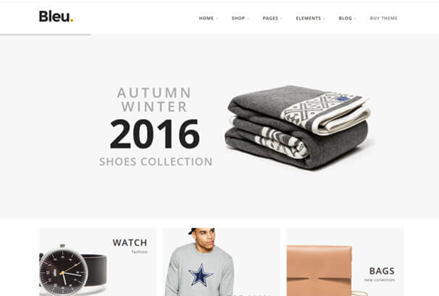 Bleu Store WordPress Theme