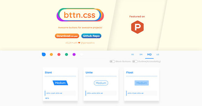 Bttn CSS Libraries