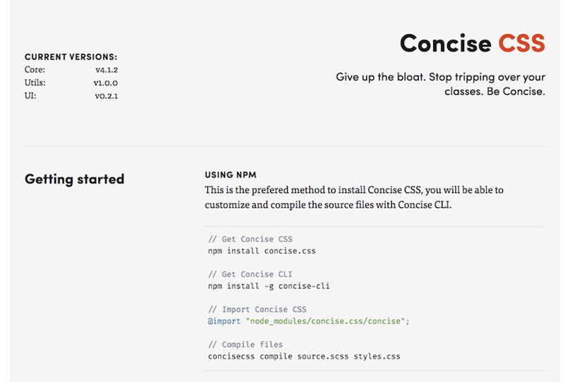 Concise CSS Libraries
