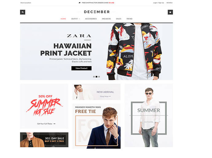 December Store WordPress Theme