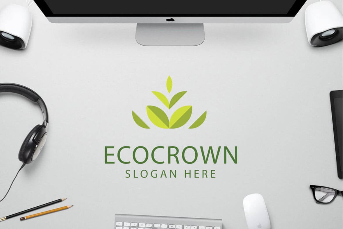 Eco Crown Logo Design