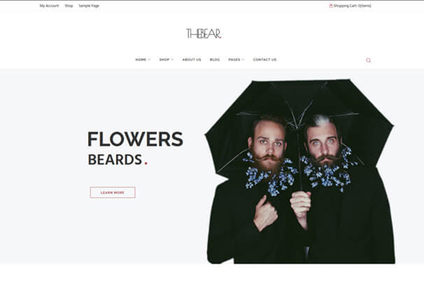 Flower T Shirt Store WordPress