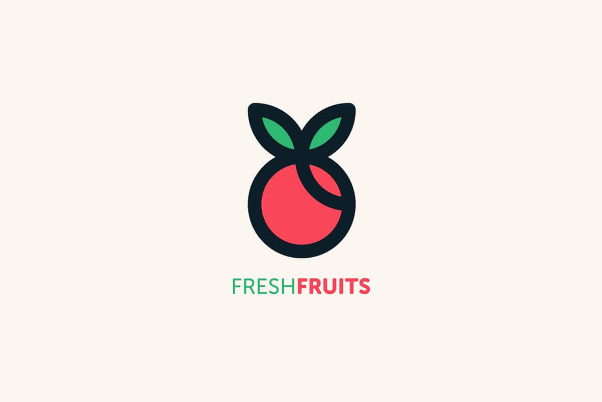 Fresh Fruits Best Minimal Logo