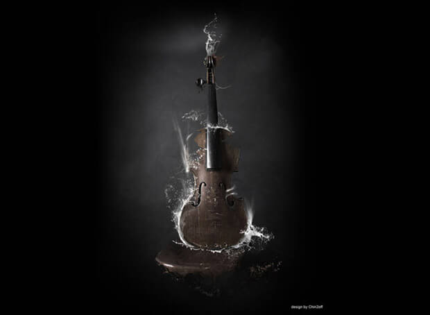 Guitar Extremely Creative Photo