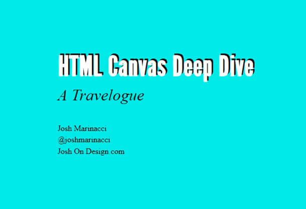 HTML Canvas Developers PDF