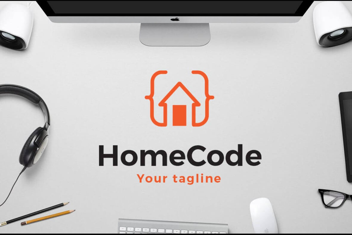 Home Code Best Minimal Logo