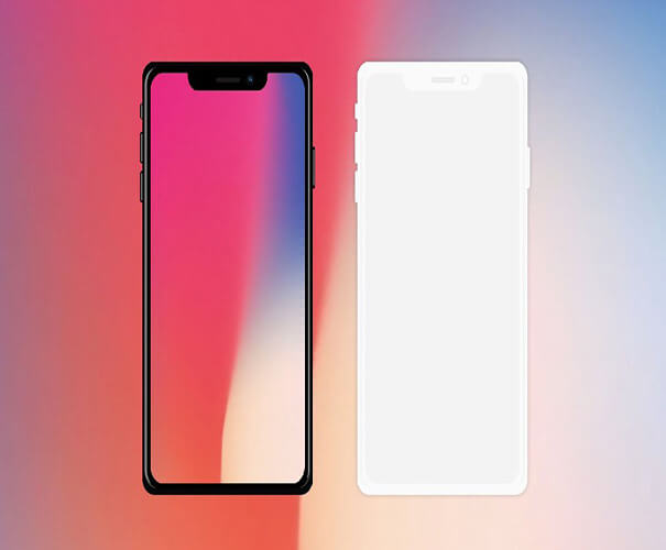 IPhone X free device Template Download