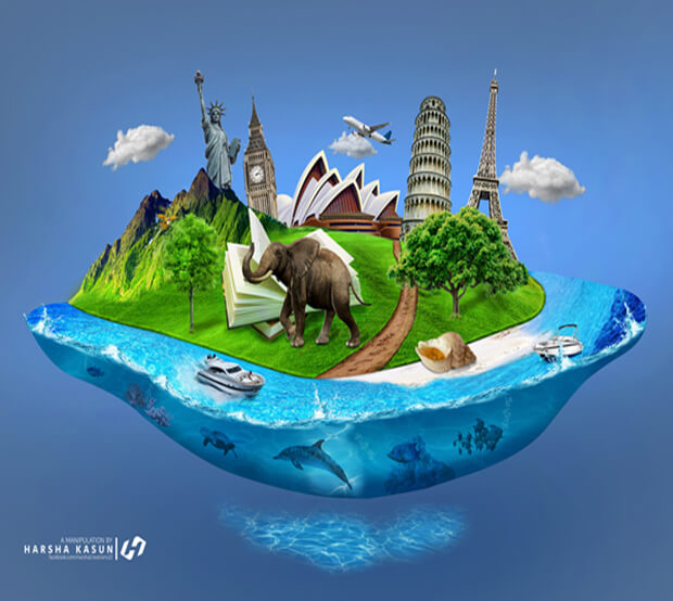 Island Photo Manipulation Example