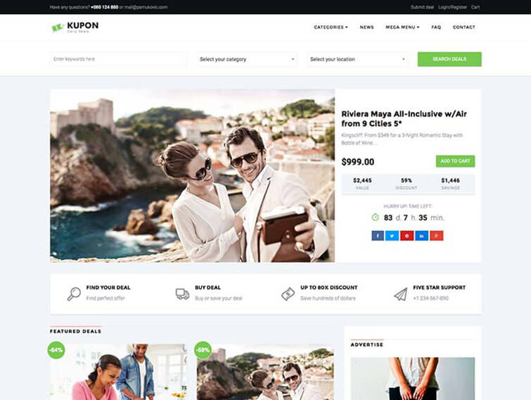 Kupon WordPress Theme