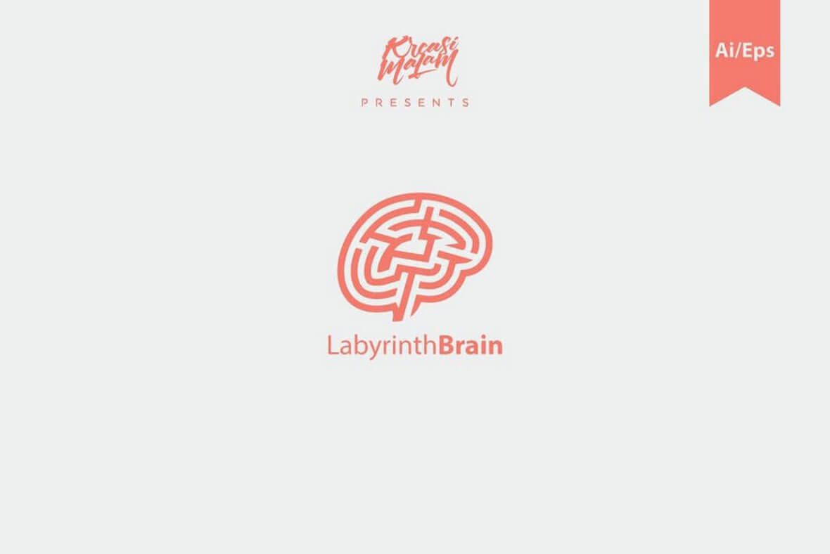 Labyrinth Minimal Logo Design