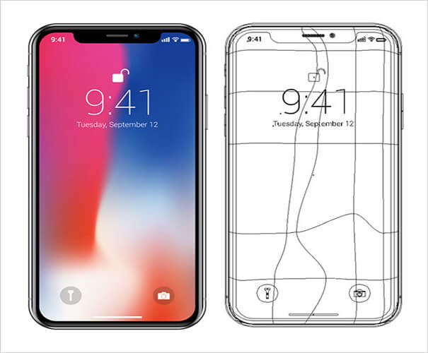 Map iPhone X Mockup Template