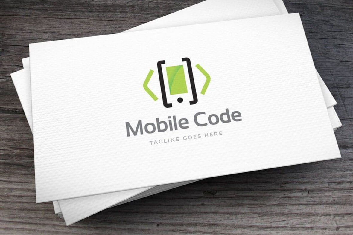 Mobile Minimal Logo Design