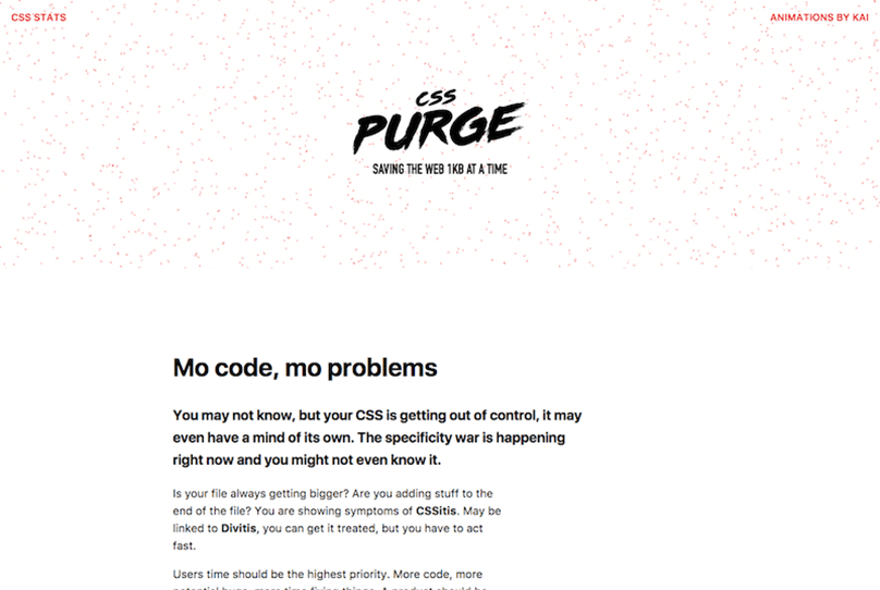 Purge CSS Library and Framework