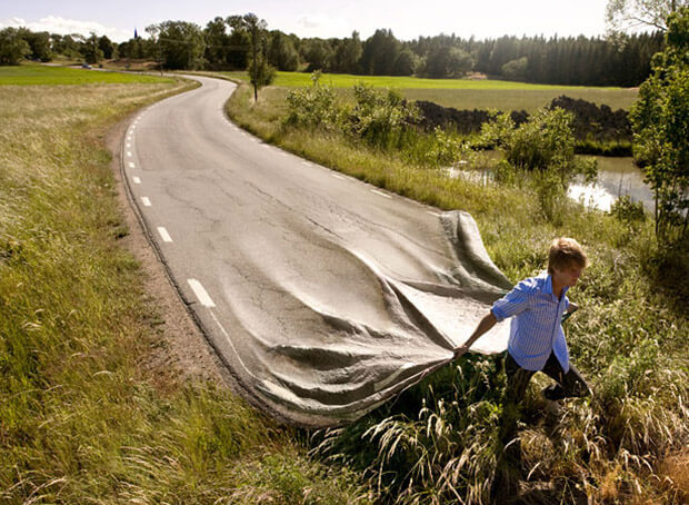 Road Creative Photo Manipulation