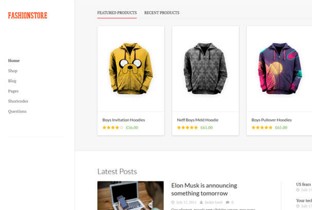 Sale Of Shirt WordPress Theme