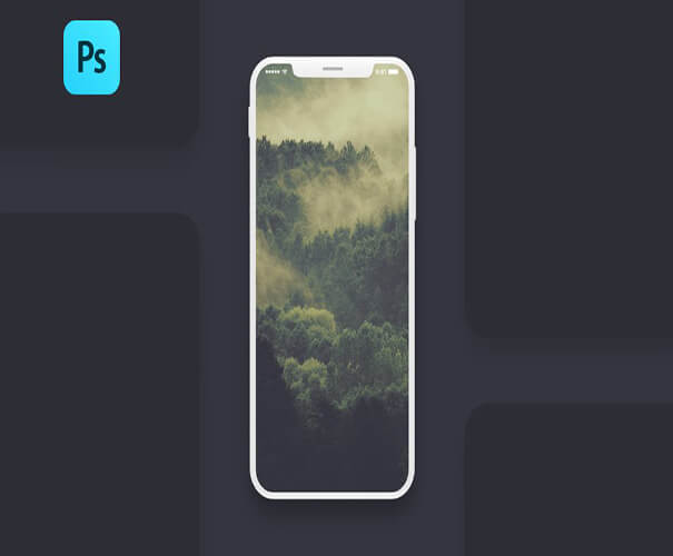Screen PSD Mockup iPhone X