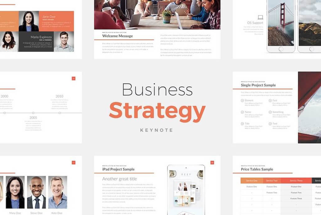 Strategy Best Keynote Template For Presentation