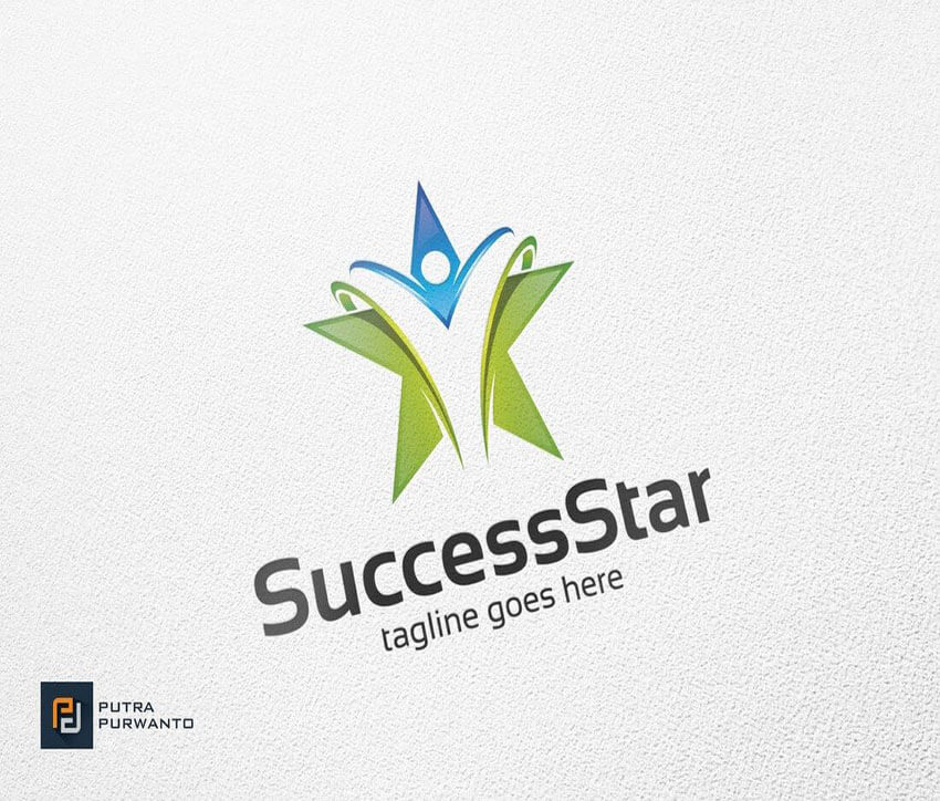 Success Star Logo Template