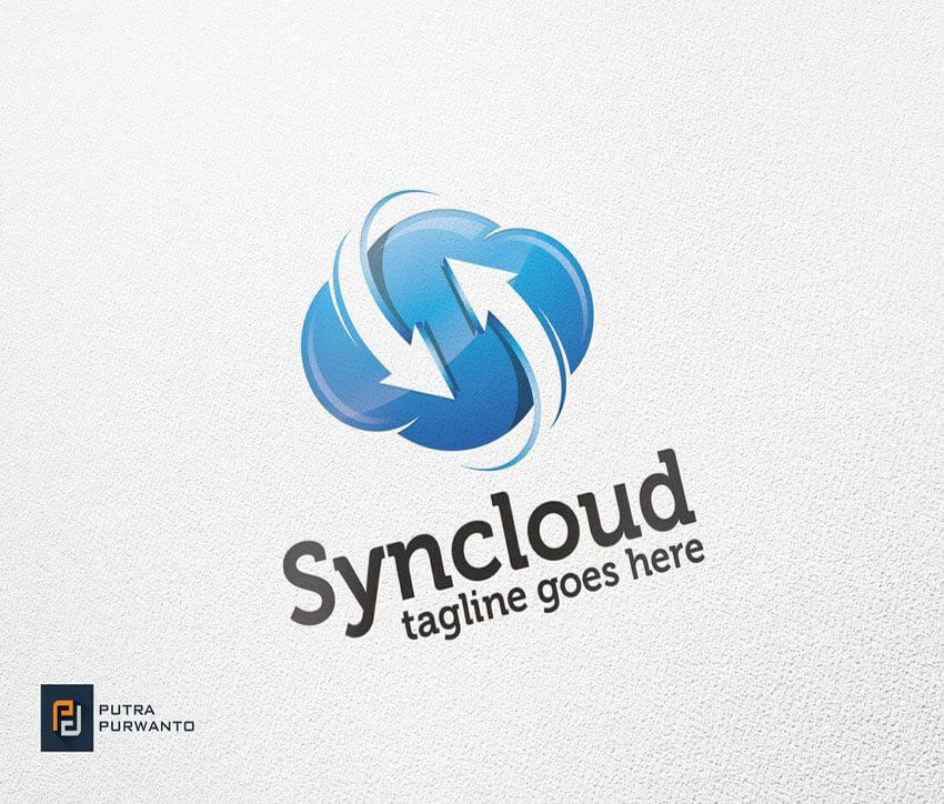 Syncloud Cloud Logo Template