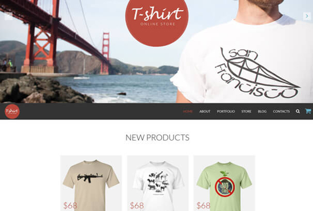 T Shirt Store WordPress