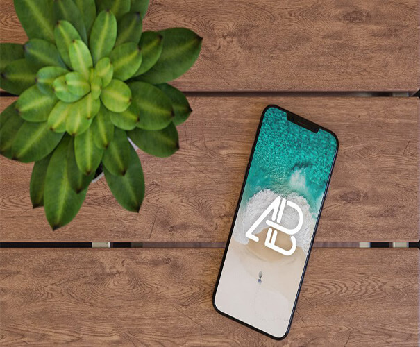 Table Mockup Best Free iPhone X