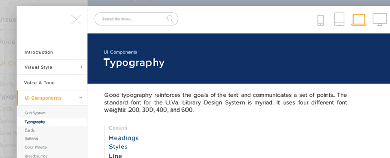 Typography Library and Framework Tool