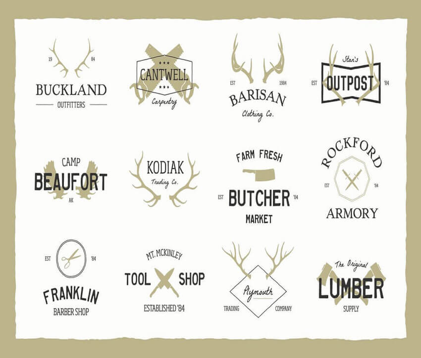 Vintage Bundle Logo Design Template