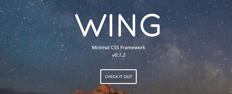 Wing css Library and Framework Tool