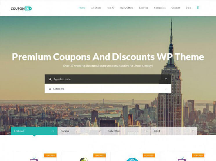couponer Responsive Daily