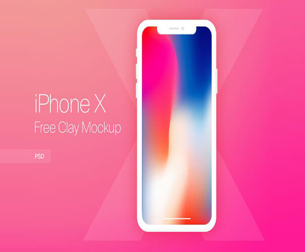 iPhone X Clay Mockup Template