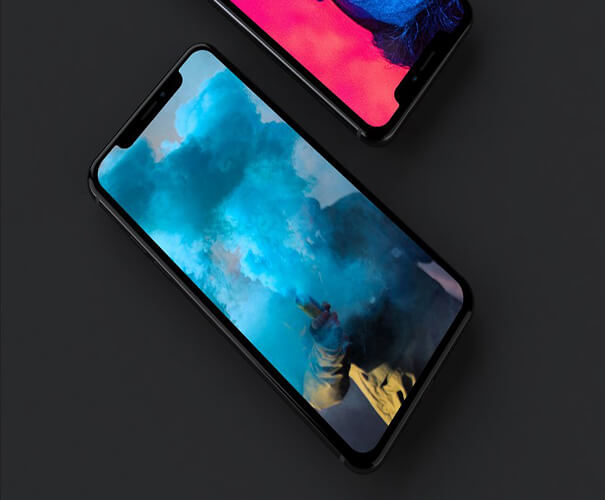 iPhone X Dark Mockup Template