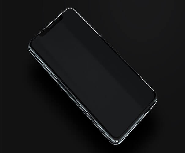 iPhone X Device Mockup Template Download