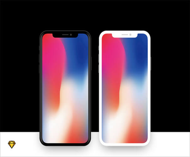 iPhone X Flat Device Mockup Template