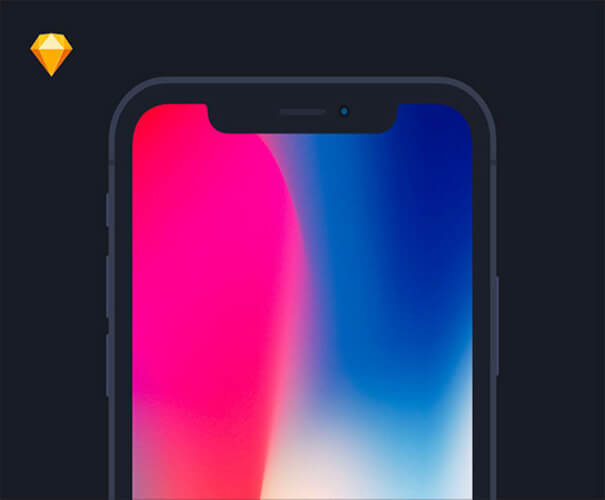 iPhone X Flat Mockup Template
