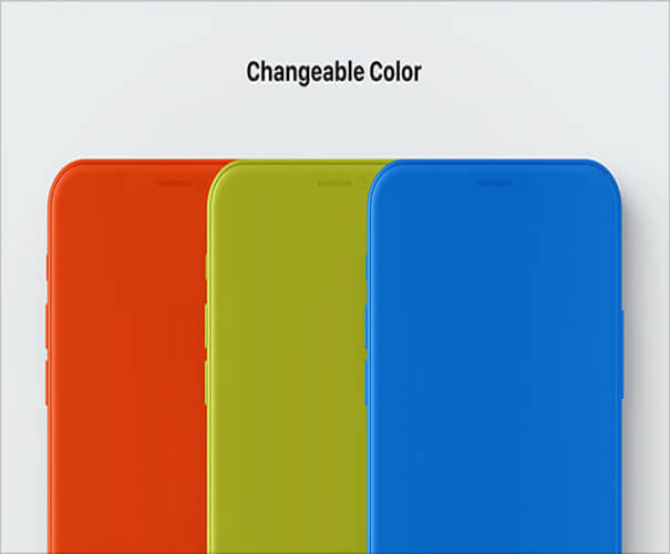 iPhone X Freebie Changable Colors Template Download