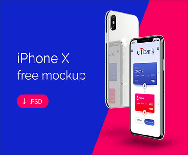 iPhone X Responsive Template Download