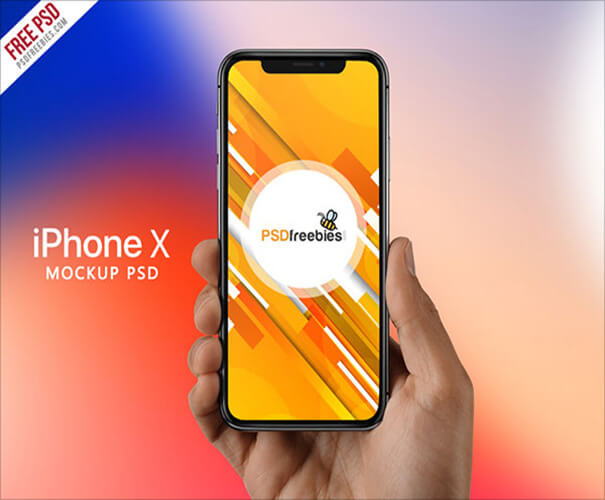 iPhone X in Hand Template Download
