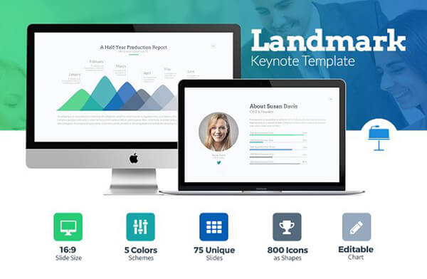 landmark For Keynote Template Presentation