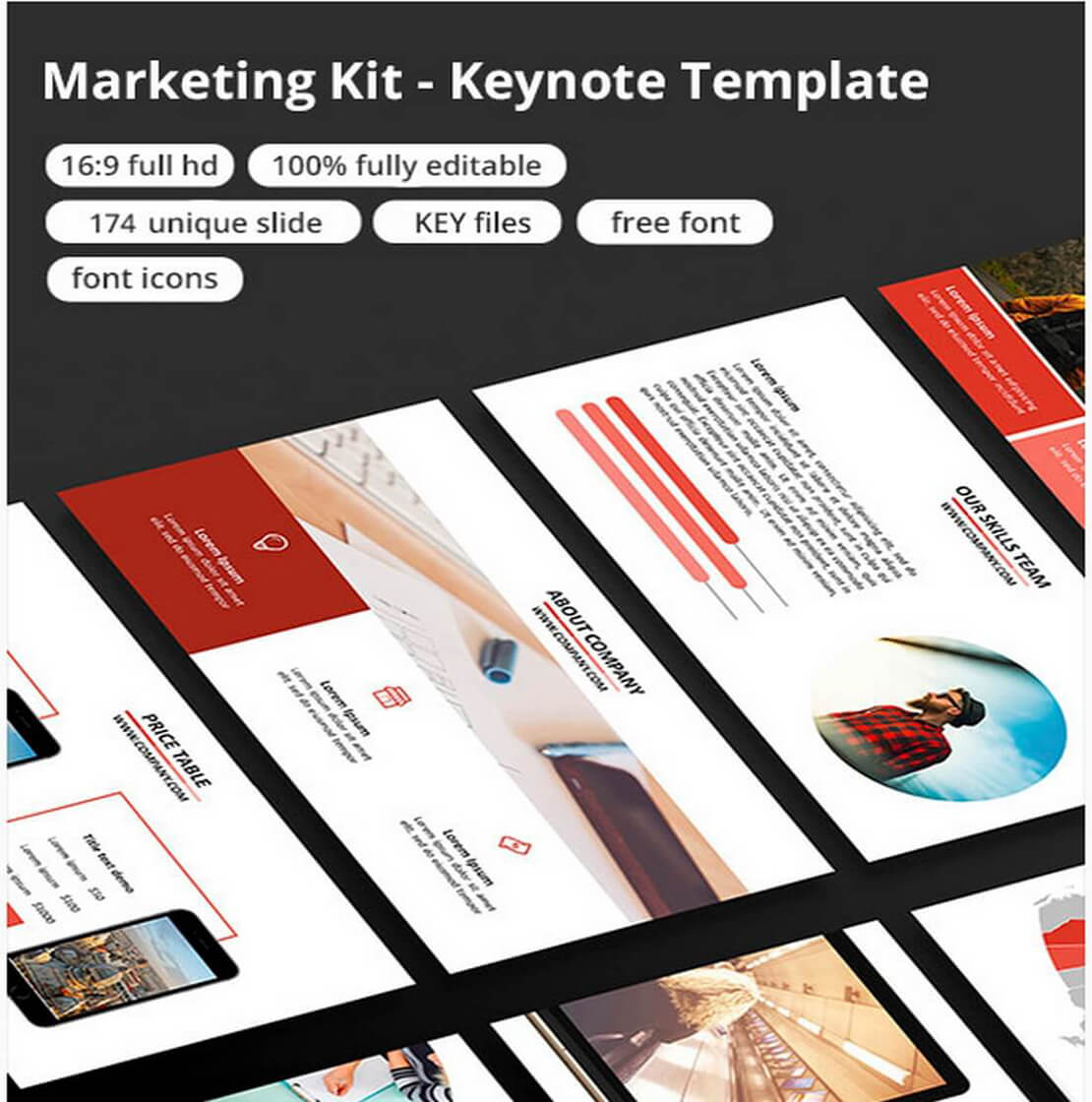 marketing For Keynote Template Presentation