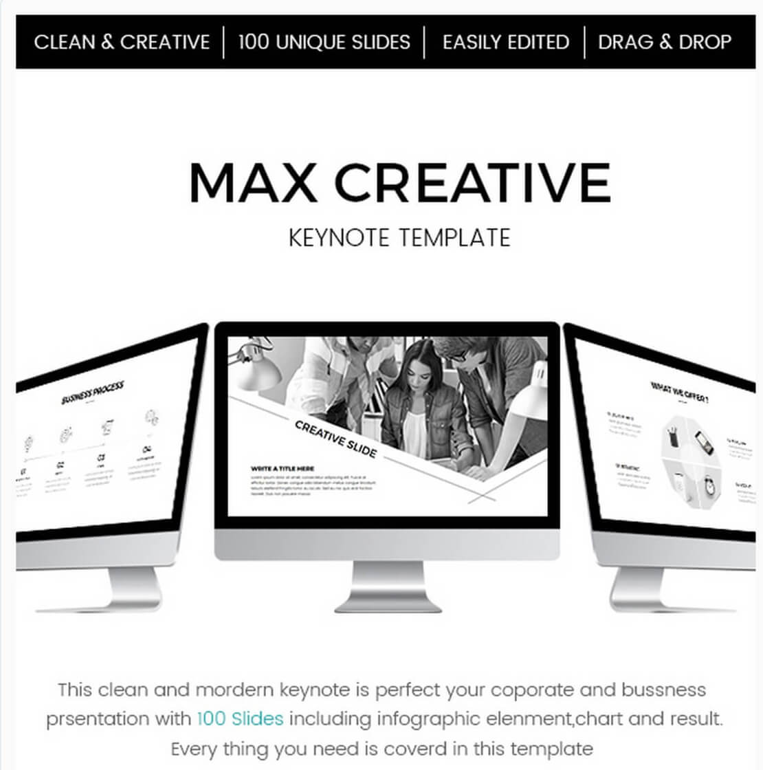max creative For Best Keynote Template