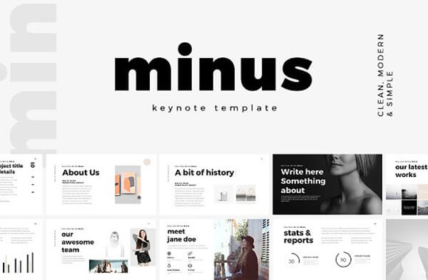minus For Best Keynote Template
