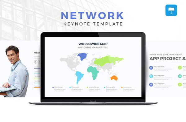 network Best Keynote Template For