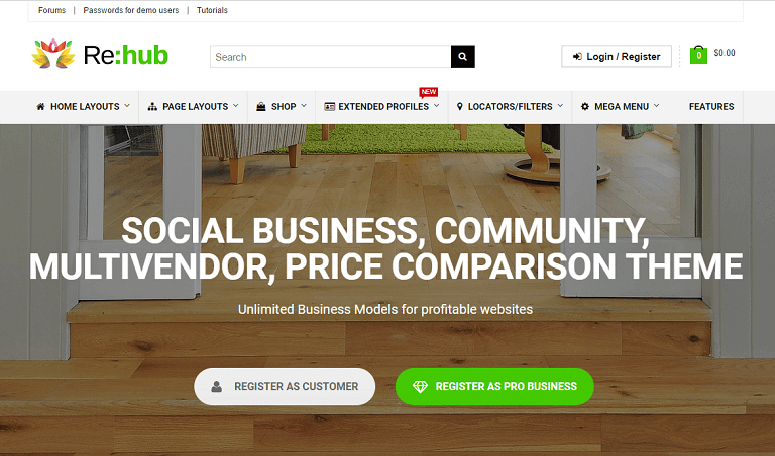 rehub buddypress wordpress theme